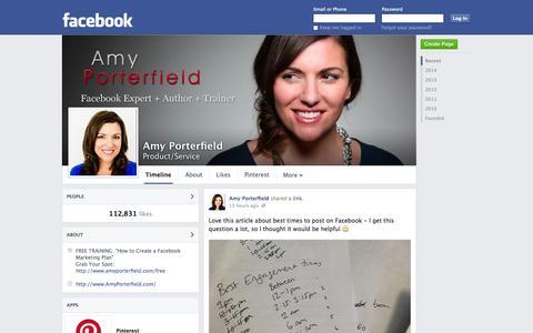 Screenshot of Facebook Page facebook.com - Amy Porterfield | Facebook - captured Oct. 23, 2014