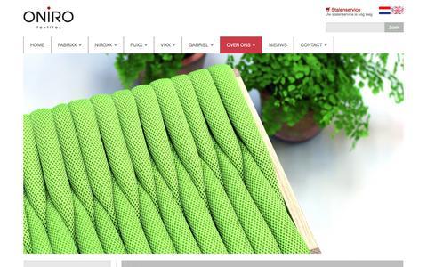 Screenshot of Team Page oniro.nl - Ons team | Oniro Textiles - captured Dec. 3, 2016