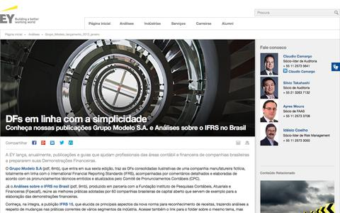 Grupo Modelo lançamento 2013 janeiro - EY - Brasil