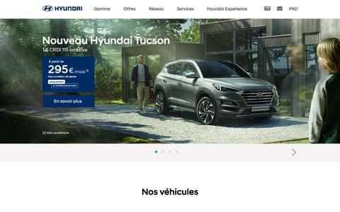 Screenshot of Home Page hyundai.fr - Bienvenue sur le site de Hyundai Motor France - 5ème constructeur automobile mondial. - captured Sept. 19, 2018