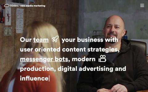 Screenshot of Team Page cloudthinkn.com - Cloudthinkn - New Media Marketing - captured Sept. 28, 2018