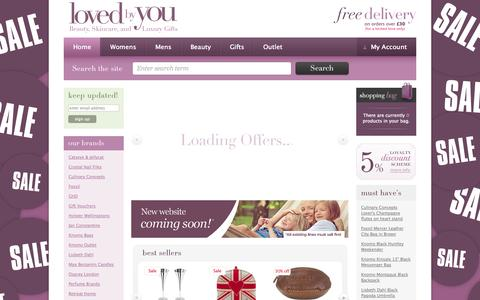 Screenshot of Home Page lovedbyyou.co.uk - Laptop Bags, wash bags, make up bags , luxury gifts - Loved by You - Online Shop - captured Sept. 30, 2014
