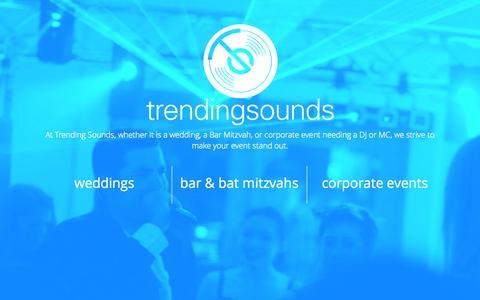 Screenshot of Home Page trendingsounds.com - Trending Sounds    Trending Sounds Entertainment Group - captured Oct. 7, 2014