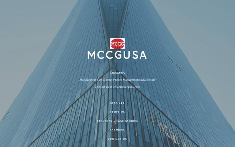 Screenshot of Home Page mccgusa.com - MCCGUSA - captured Nov. 17, 2016