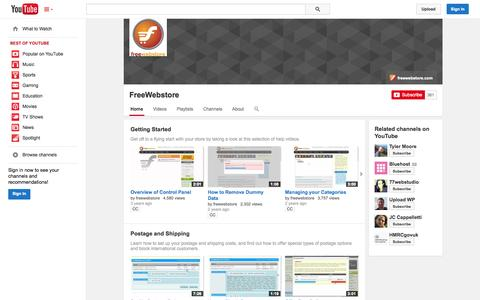 Screenshot of YouTube Page youtube.com - FreeWebstore  - YouTube - captured Oct. 27, 2014