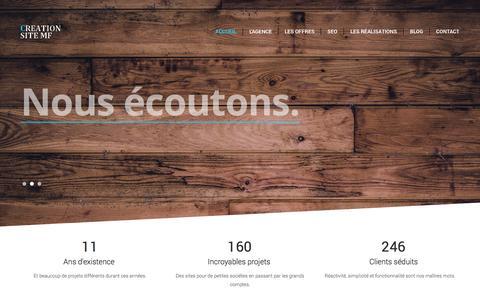 Screenshot of Contact Page creation-site-mf.com - Creation de site mf vitrine, site e-commerce, flash, référencement internet, optimisation - captured Nov. 2, 2014
