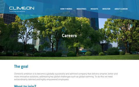 Screenshot of Jobs Page climeon.com - Careers   Climeon - captured Aug. 6, 2017