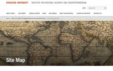 Screenshot of Site Map Page syr.edu - Site Map-insct.syr.eduInstitute for National Security and Counterterrorism - captured Jan. 22, 2017