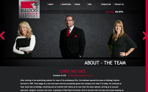Screenshot of Team Page bulldogcreative.com - The Team | Bulldog Creative Services - captured Nov. 3, 2014