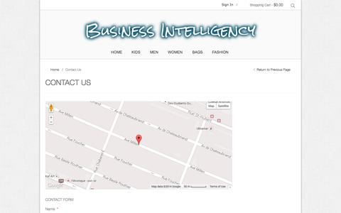 Screenshot of Contact Page businessintelligency.biz - Contact Us   Business Intelligency - captured Sept. 30, 2014