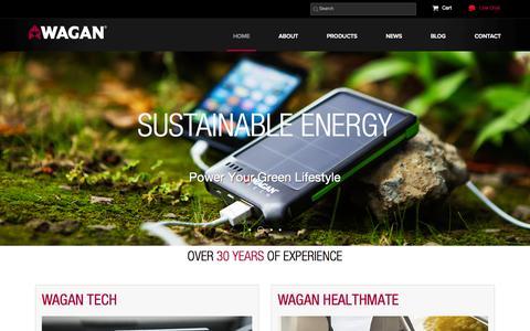 Screenshot of Home Page wagan.com - Wagan Tech - captured June 20, 2015