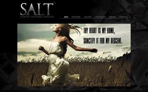 Screenshot of Home Page saltluxury.com - SALT DESIGN - captured Oct. 3, 2014