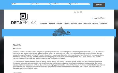 Screenshot of About Page detaemlak.com - About Us - captured Oct. 5, 2014