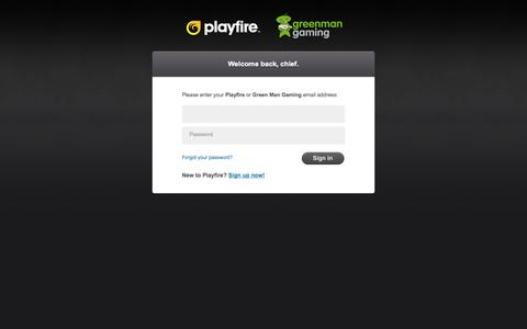 Screenshot of Login Page playfire.com - Login - Playfire - captured June 17, 2015