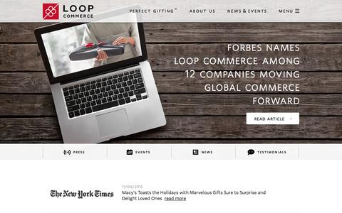 Screenshot of Press Page loopcommerce.com - Loop Commerce - News & Events - captured Nov. 4, 2015