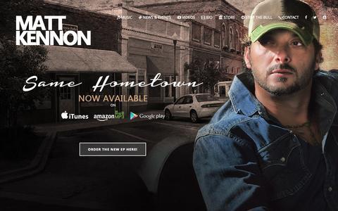Screenshot of Home Page mattkennon.com - Matt Kennon Official - captured Oct. 9, 2015