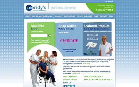 Screenshot of Home Page meridys.com - Home page - captured Oct. 6, 2014