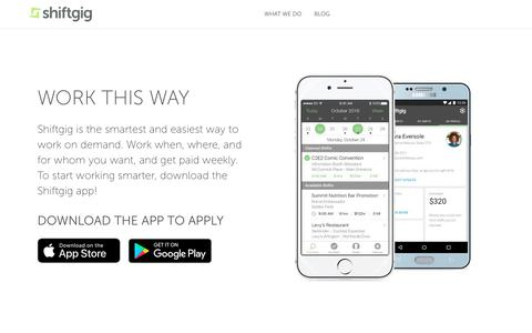 Download Now to Get Started | Shiftgig