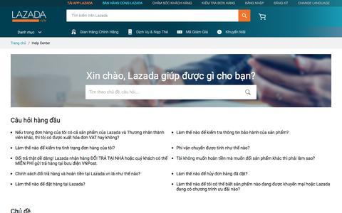 Screenshot of FAQ Page lazada.vn - Lazada - captured March 27, 2018