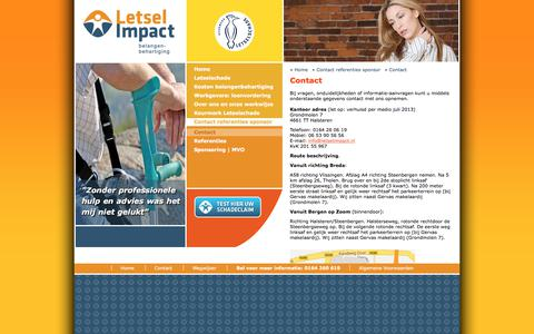 Screenshot of Contact Page letselimpact.nl - Contact, Letsel Impact, belangenbehartiging - captured Aug. 1, 2017