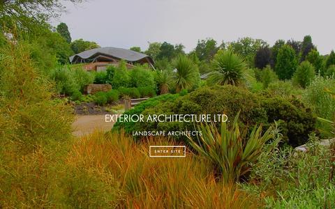 Screenshot of Home Page exteriorarchitecture.com - Exterior Architecture - captured Sept. 23, 2015