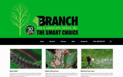 Screenshot of Press Page branchtree.com - Tree Health, Plant News and Events | Business and Industry Updates - captured Oct. 6, 2018