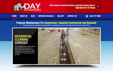 Screenshot of Home Page day-enterprises.com.au - Commercial and Domestic Cleaning Services in Sydney | Day Enterprises - captured Sept. 18, 2014
