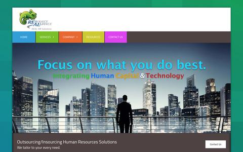 Screenshot of Home Page real-hr.com - Real HR | REAL HR's New Site! - captured Aug. 15, 2015