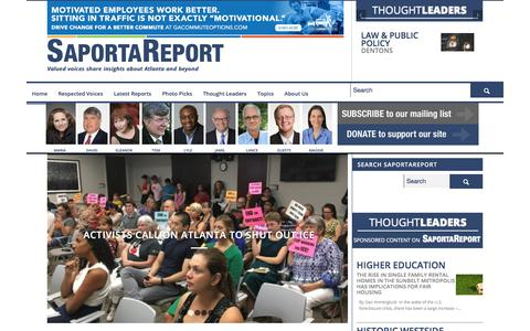 Screenshot of Home Page saportareport.com - SaportaReport - Valued Voices Share Insights About Atlanta - captured July 27, 2018