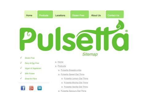 Screenshot of Site Map Page pulsetta.com - Home - captured Nov. 15, 2016