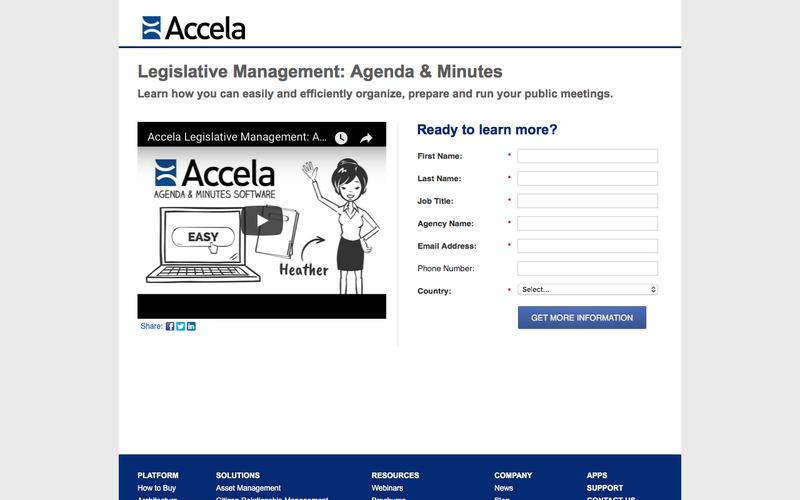 "Legislative Management: Agenda & Minutes<br><span style=""font-size: 18px;"">Learn how you can easily and efficiently organize, prepare and run your public meetings.</span> 