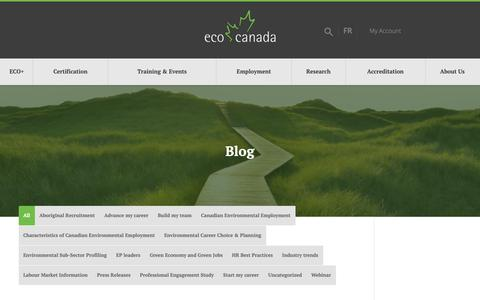 Screenshot of Blog eco.ca - Blog | ECO Canada - captured Nov. 4, 2018