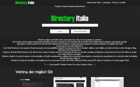 Screenshot of Home Page directory-italia.it - Directory Italia | La Web Directory Italiana. - captured Jan. 21, 2017