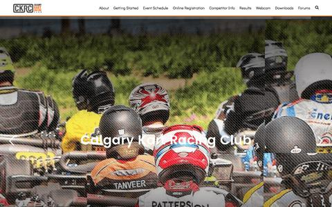 Screenshot of Home Page ckrc.com - Calgary Kart Racing Club (CKRC) | Alberta Kart Racing Club for Everyone. Various Kart Racing Classes. Try a Kart, Competitive Kart Racing in Alberta - captured July 11, 2017
