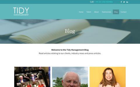 Screenshot of Blog tidymanagement.com - Blog - Tidy Management - captured March 4, 2018