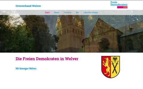 Screenshot of Home Page fdp-welver.de - FDP Welver | Start - captured March 31, 2017