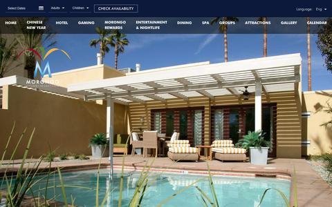 Screenshot of Contact Page morongocasinoresort.com - Resorts Near Los Angeles | Morongo Casino Resort - captured Feb. 2, 2017