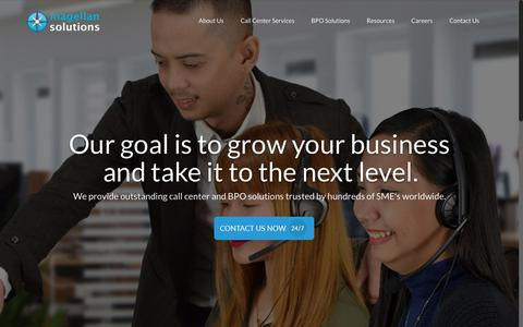 Screenshot of Home Page magellan-solutions.com - Magellan Solutions: Call Center Services & BPO Philippines - captured July 10, 2018