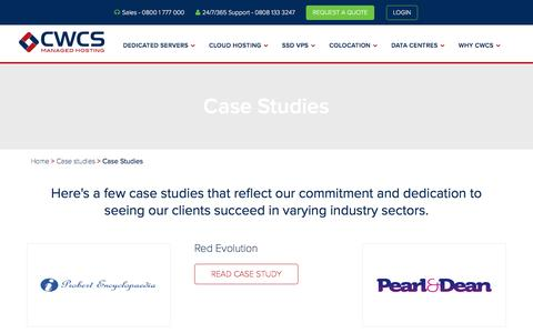 Screenshot of Case Studies Page cwcs.co.uk - Case Studies Archives - CWCS - captured Oct. 15, 2016