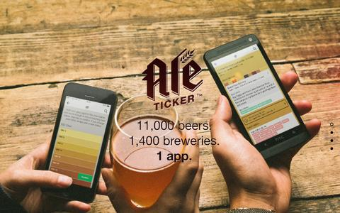 Screenshot of Home Page aleticker.com - AleTicker, the beer reference guide - captured July 25, 2016