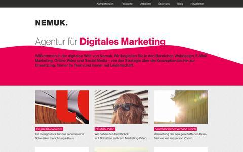 Screenshot of Home Page nemuk.com - Nemuk   Agentur für digitales Marketing - captured Oct. 7, 2014