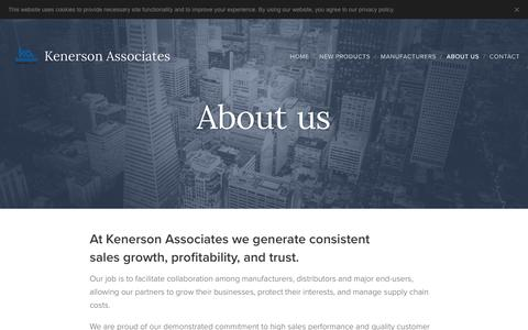 Screenshot of About Page kenerson.com - About us :: Kenerson Associates - captured Oct. 15, 2018