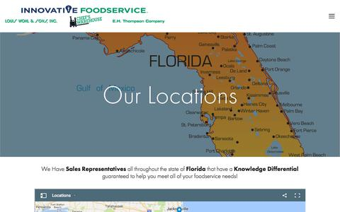 Screenshot of Locations Page louiswohl.com - Locations — Louis Wohl & Sons, Inc. - captured July 6, 2017