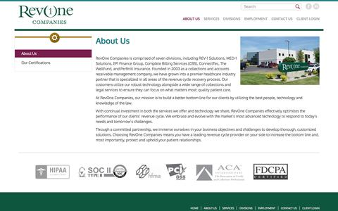 Screenshot of About Page revonecompanies.com - Company Profile | RevOne - captured Dec. 19, 2016