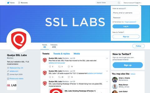 Qualys SSL Labs (@ssllabs) | Twitter