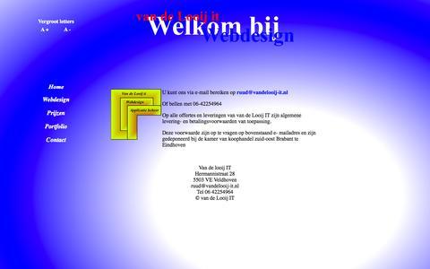 Screenshot of Contact Page vandelooij-it.nl - Contact - captured Oct. 9, 2014