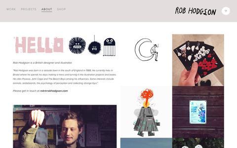 Screenshot of About Page robhodgson.com - About — Rob Hodgson - captured Dec. 2, 2016