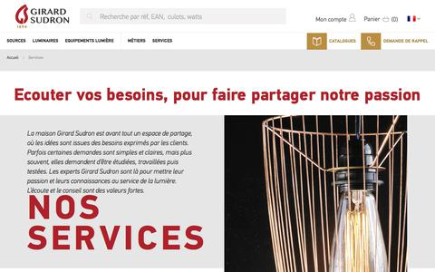 Screenshot of Services Page girard-sudron.ch - Services - captured Nov. 20, 2017