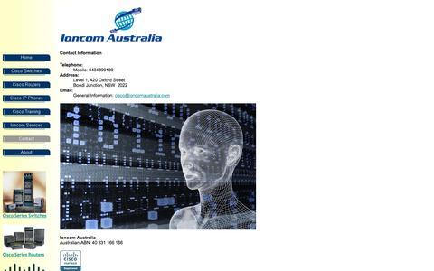 Screenshot of Contact Page ioncomaustralia.com - Ioncom Australia Contact - captured Sept. 19, 2018