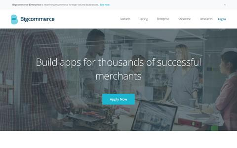 Screenshot of Developers Page bigcommerce.com - Developer Program - Build apps for more than 95,000 merchants | Bigcommerce - captured Sept. 30, 2015